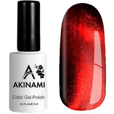 Гель-лак Akinami Cat Eye - Red 02